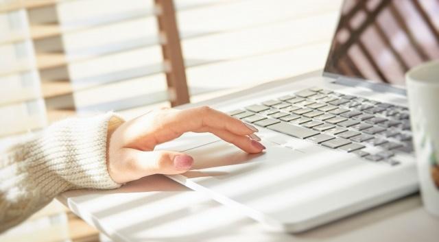 パソコンでネットビジネスをする女性のイメージ画像