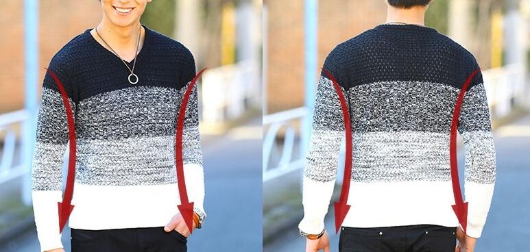 MENZ-STYLEの洋服のシルエット部分を強調するイメージ画像