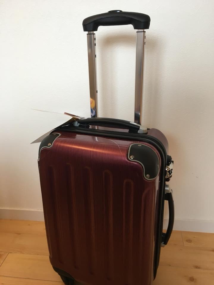 長崎県佐世保市へのふるさと納税でもらった返礼品のキャリースーツケースの全体画像