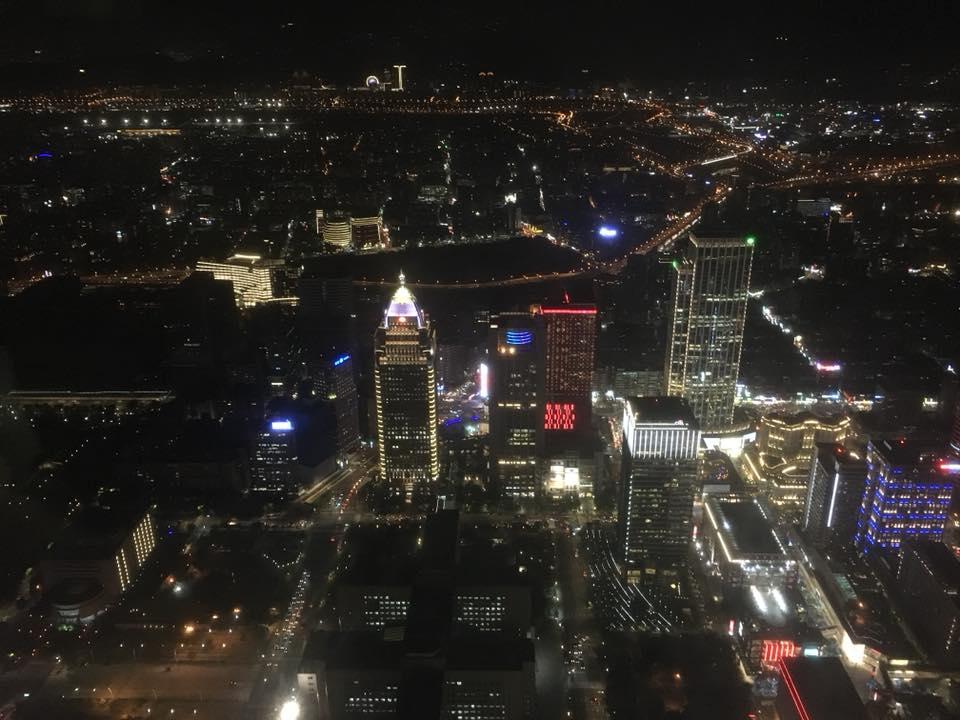 台湾の風景 台湾101タワーからの夜景