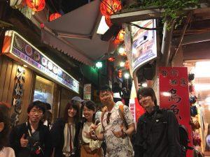 台湾の九份にて記念撮影