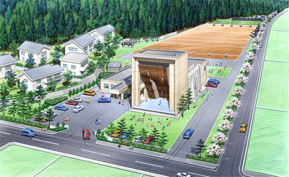 福井県立クライミングセンターの外観イメージ画像
