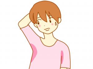 脇汗がヤバい人のイメージ画像