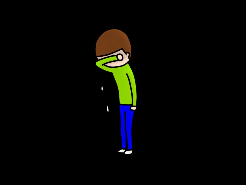 泣いてるイメージ画像
